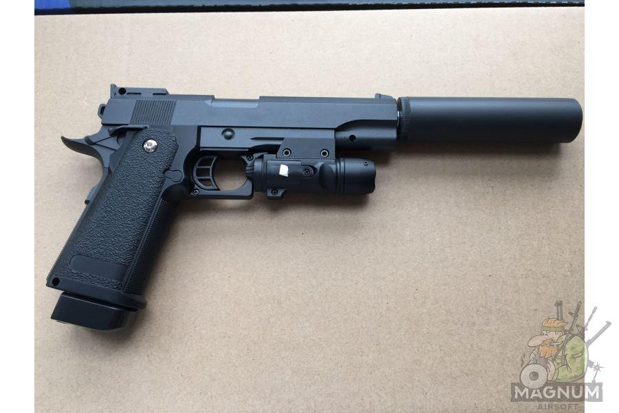 IMG 4733 - Пистолет Galaxy Colt Hi-Capa G.6A SPRING