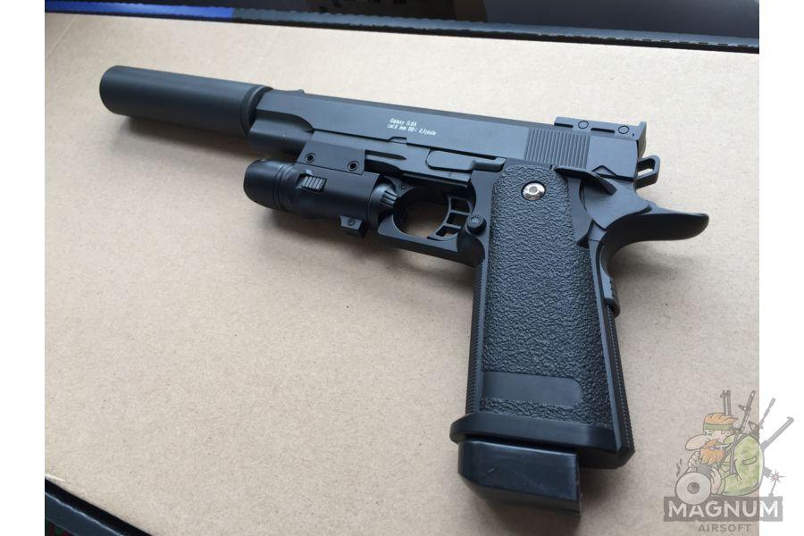 IMG 4735 - Пистолет Galaxy Colt Hi-Capa G.6A SPRING