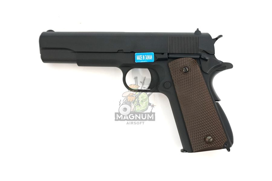 WE E017C BK 1 - Пистолет WE COLT M1911А1 Gen 2 CO2 WE-E017C-BK