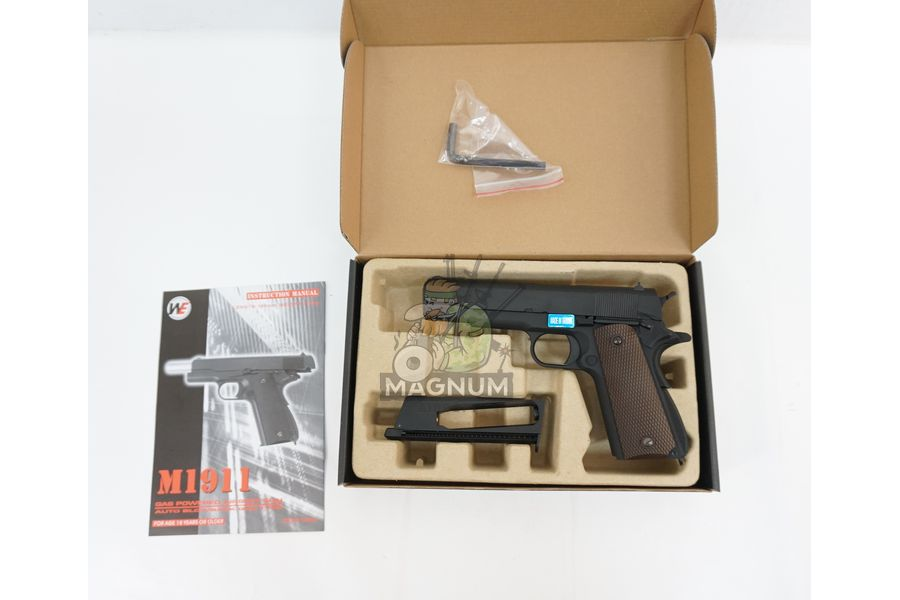 WE E017C BK 3 - Пистолет WE COLT M1911А1 Gen 2 CO2 WE-E017C-BK