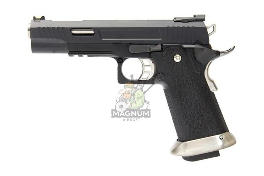WE H001WET BK 1 - Пистолет WE COLT M1911 HI-CAPA 5.1 WET REX Long Black WE-H001WET-BK
