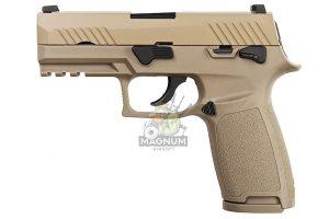 ASIA Electric Guns Alloy Slide F18 GBB Pistol - Tan