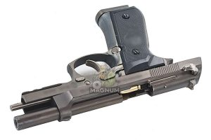Blackcat Airsoft Min Model Gun M92F (Shell Ejection) - Dark Silver