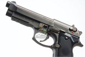 Blackcat Airsoft Min Model Gun M92F (Shell Ejection) - Dark Silver