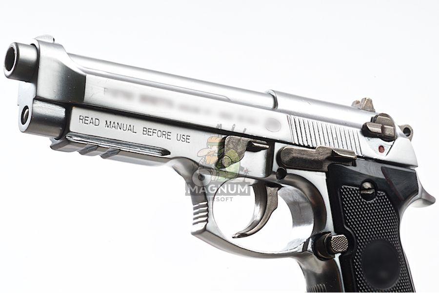 Blackcat Airsoft Min Model Gun M92F (Shell Ejection) - Silver