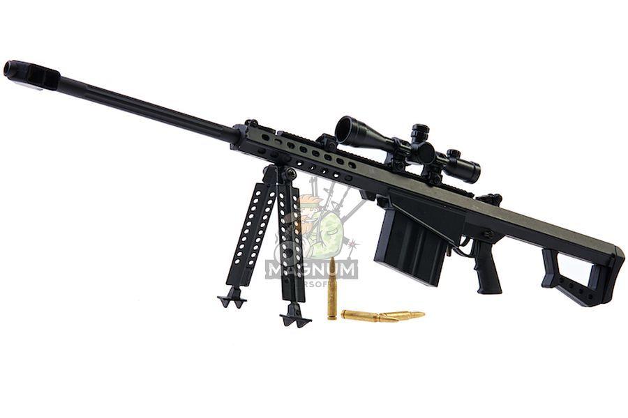 Blackcat Airsoft Mini Model Gun M82A1 (Scale 1:4) - Black