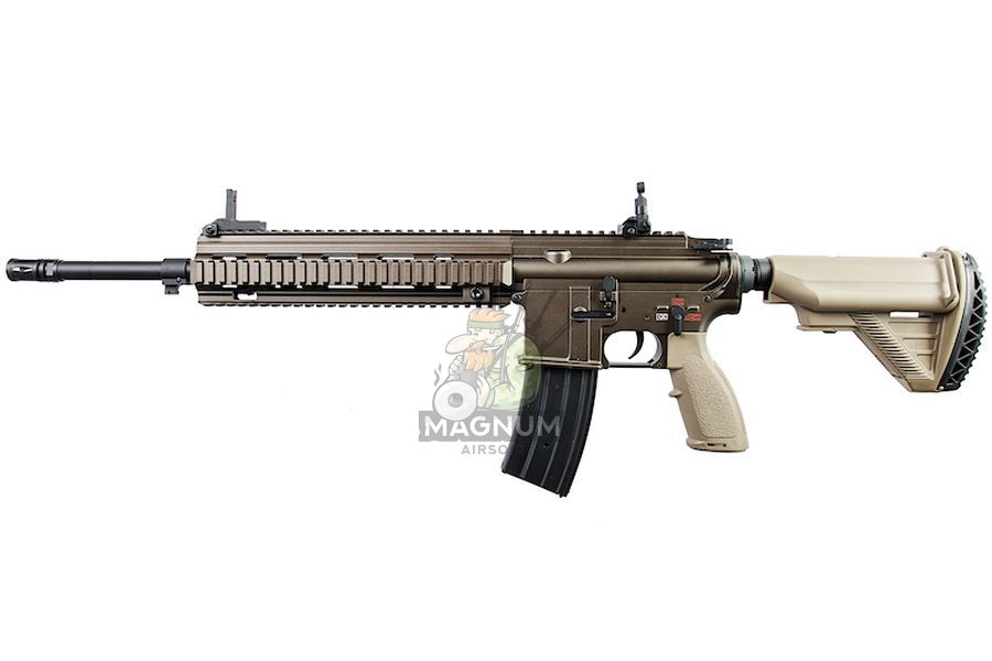 E&C EC103 Full Metal HK416 M27 IAR AEG - Dark Brown