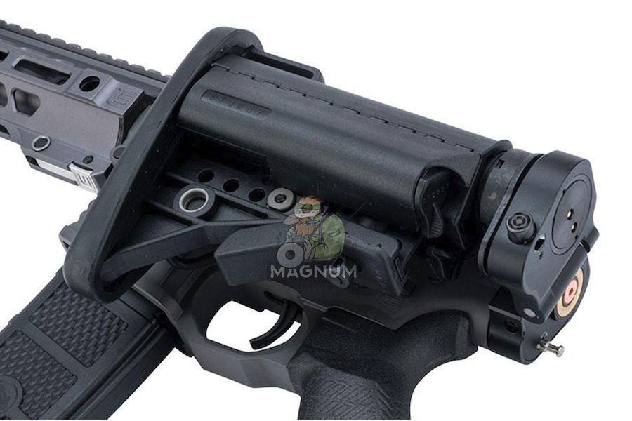 EMG Salient Arms Licensed GRY AR15 (M4) CQB AEG (Folding Stock) - Gray (by G&P)