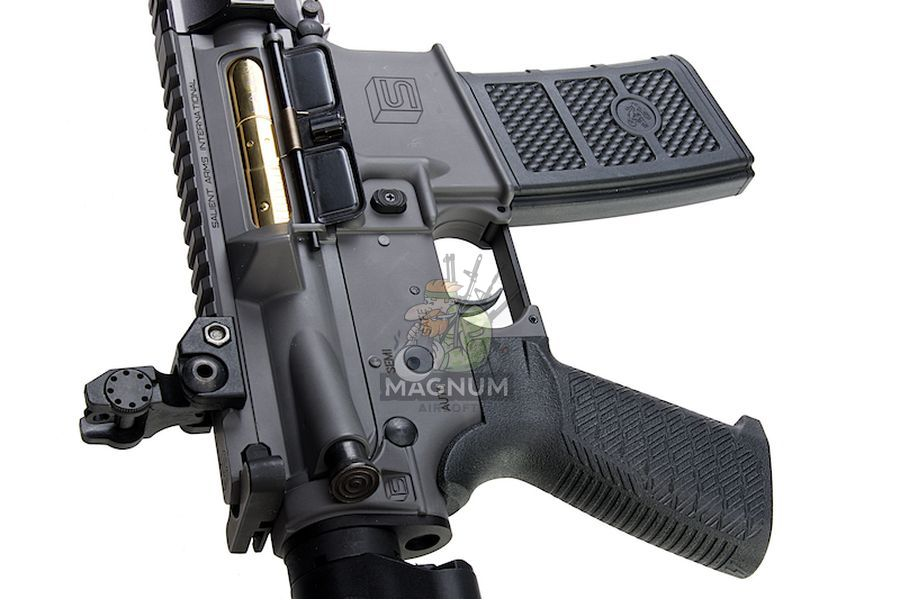 EMG Salient Arms Licensed GRY AR15 (M4) Gen. 2 Carbine AEG with Crane Stock - Gray (by G&P)