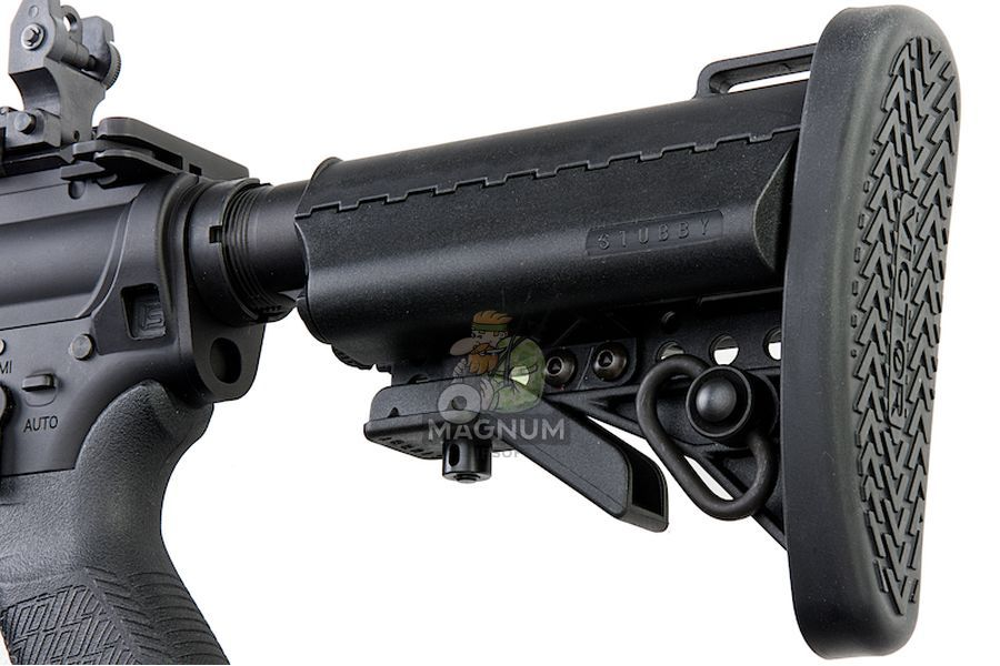 EMG Salient Arms Licensed GRY AR15 (M4) Gen. 2 CQB AEG with Stubby Stock - Black (by G&P)