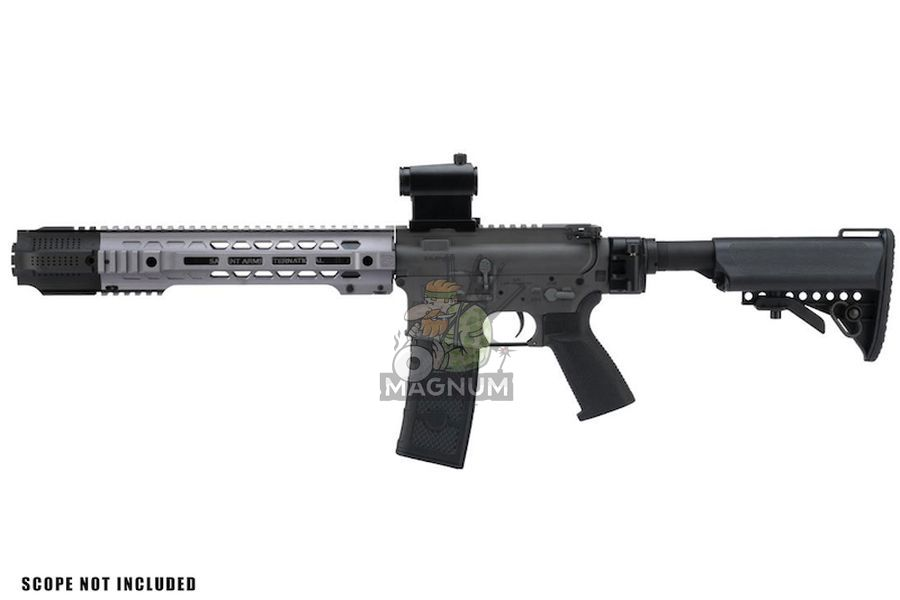 EMG Salient Arms Licensed GRY AR15 (M4) Gen. 2 SBR AEG (Folding Stock) - Gray (by G&P)