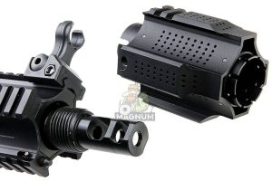 EMG Salient Arms Licensed GRY AR15 (M4) Gen.2 CQB AEG (Folding Stock) - Black (by G&P)