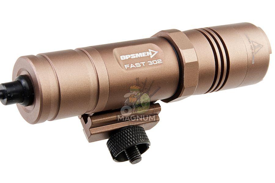 OPSMEN FAST 302R Weapon Light for Picatinny Rail (800 Lumen) - Coyote Tan