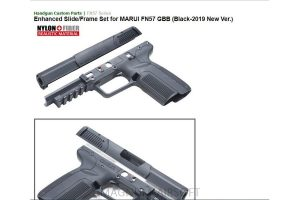 Guarder Enhanced Slide/Frame Set for MARUI FN57 GBB (Black-2019 New Ver.)