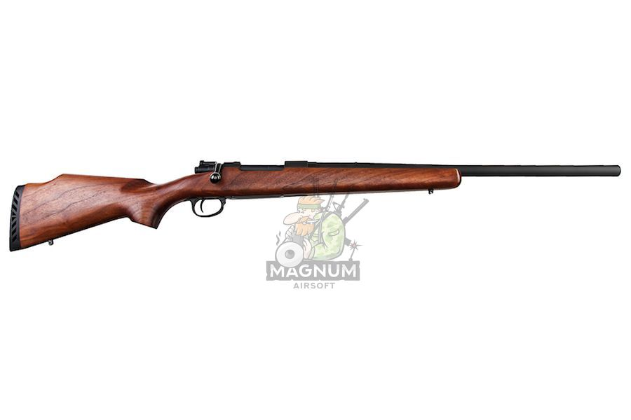 Marushin Mauser Kar98K Sporter Black HW Walnut Stock (6mm Gas Version)