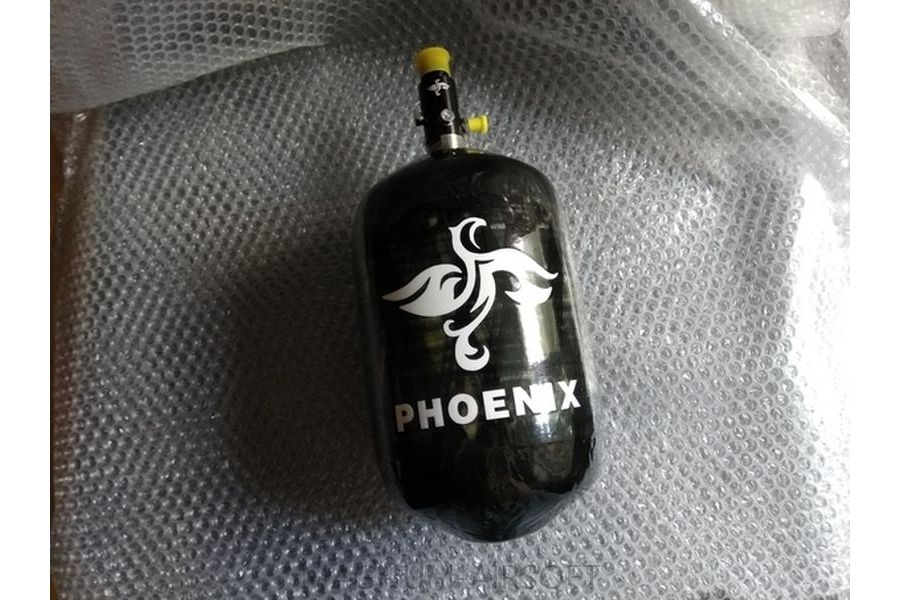 Phoenix баллон композитный 2 литра 4.500 psi (регулятор Ninja)