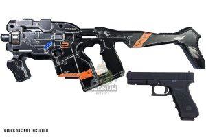 AVATAR HORNET M25 Obsidian Kit w/ Stock (Mass Effect) with Umarex Glock 17 Gen 3 GBB - Black (Complete Paint Set)