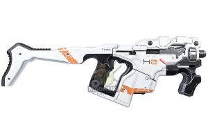 AVATAR HORNET M25 Obsidian Kit w/ Stock (Mass Effect) with Umarex Glock 17 Gen 3 GBB - White (Complete Paint Set)