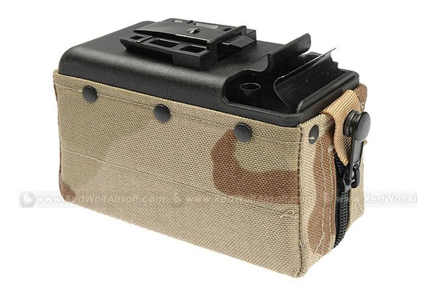 MAG 2500rds Cartridge Pouch Magazine for M249 (Desert)