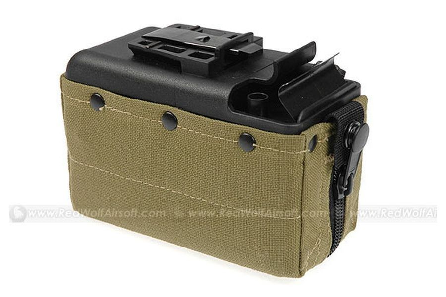 MAG 2500rds Cartridge Pouch Magazine for CA M249 (Khaki)