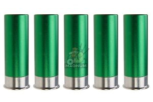 ShowGuns 20mm Gas Shotgun Shell for Tanaka / PPS 870 Shotshell Launcher (5pcs) (Green)