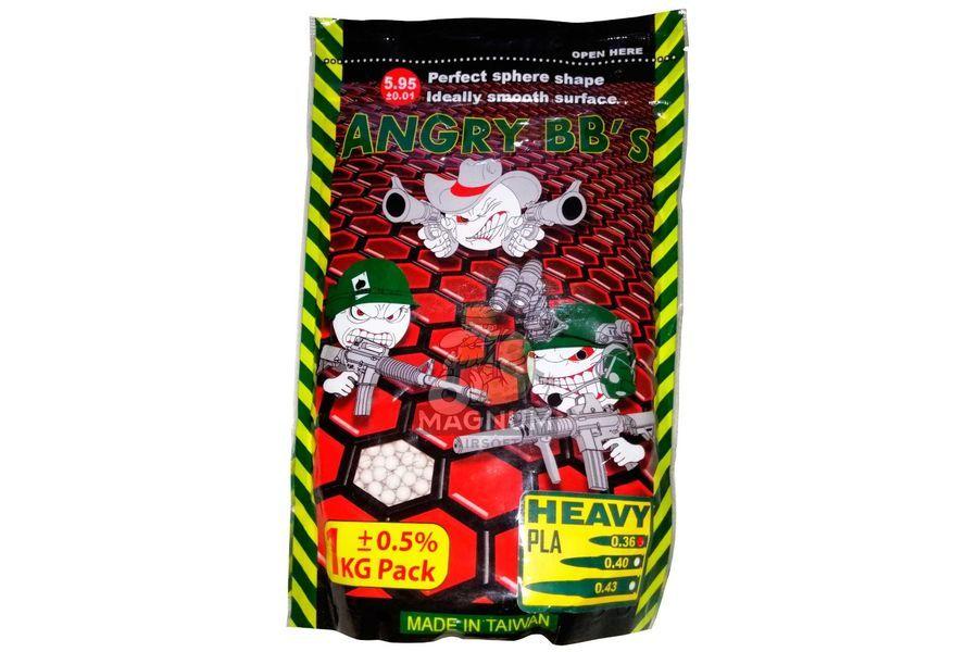 Шарики ANGRY BBs 0,43 (белые, 1кг. пакет) Taiwan TJ-043PLA