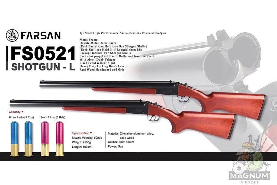 HAWSAN Double Barrel Shotgun 2 - Дробовик HAWSAN/FARSAN 0521 Boomstick Double Barrel Shotgun
