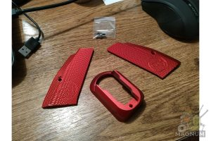 KJ Works Short Aluminium Hand Grip & Magwell Set - RED
