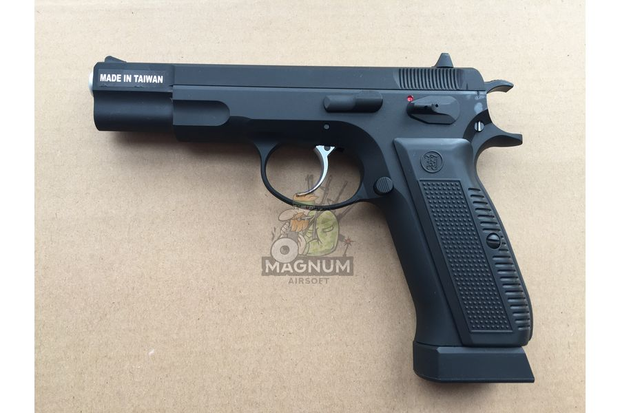 KJW CZ75 CO2 1 - Пистолет KJW CZ75 Black GBB - KP-09.CO2 CP430