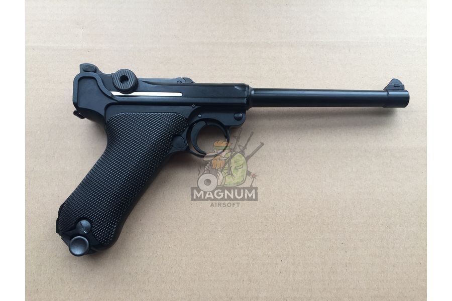 """Pistolet WE P 08 6 1 - Пистолет WE Luger P-08 6"""" WE-P002 / GP402"""