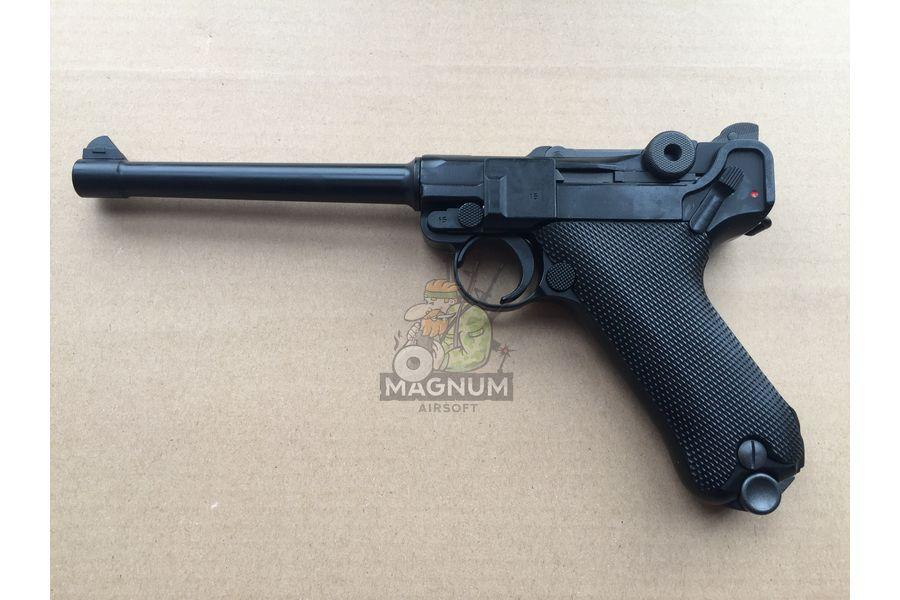 """Pistolet WE P 08 6 2 - Пистолет WE Luger P-08 6"""" WE-P002 / GP402"""