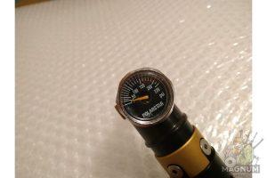 "Polar Star HPA regulator MRS 180 psi w/Braided Air Line (42"", Black)"