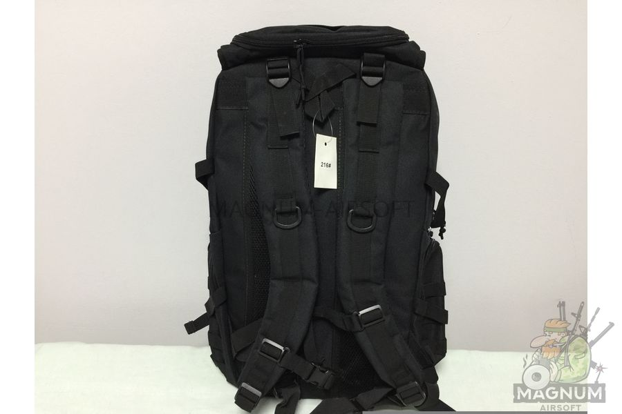 IMG 4181 18 04 20 04 01 - Рюкзак тактический 19 литров - Черный (27x50x14cm)
