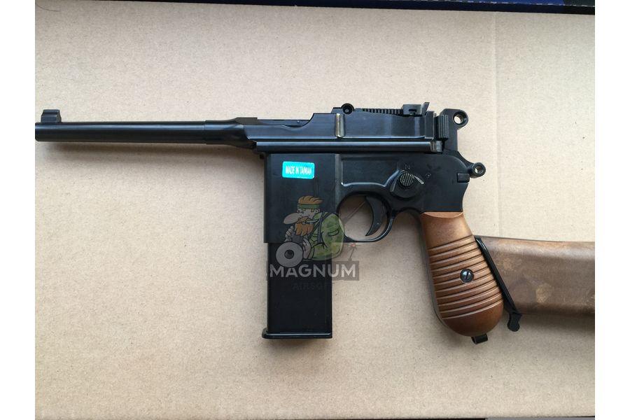 IMG 4206 18 04 20 06 43 - Пистолет WE Mauser 712 (пластик под дерево) WE-712-BK