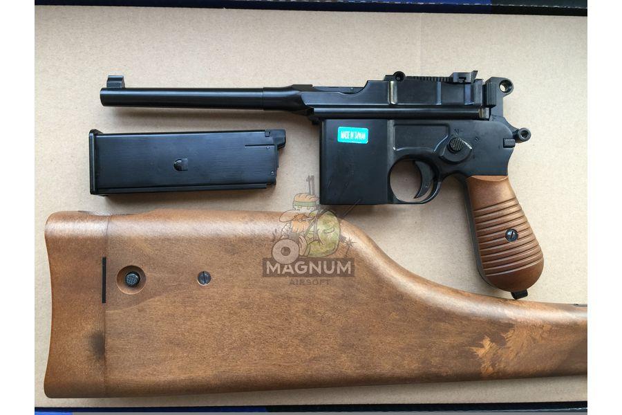 IMG 4207 18 04 20 06 43 - Пистолет WE Mauser 712 (пластик под дерево) WE-712-BK