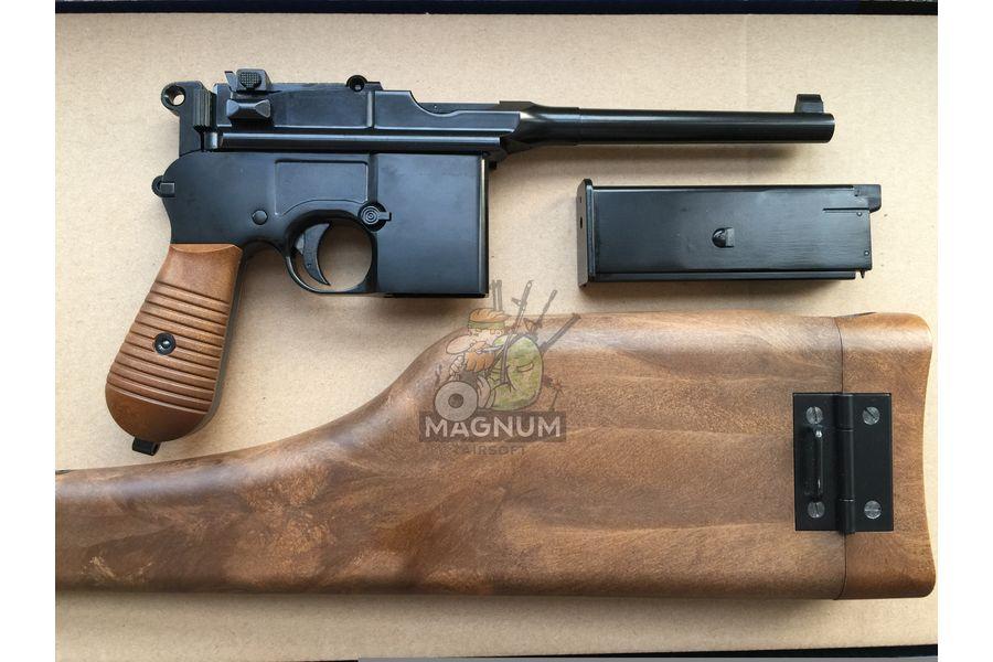 IMG 4208 18 04 20 06 43 - Пистолет WE Mauser 712 (пластик под дерево) WE-712-BK