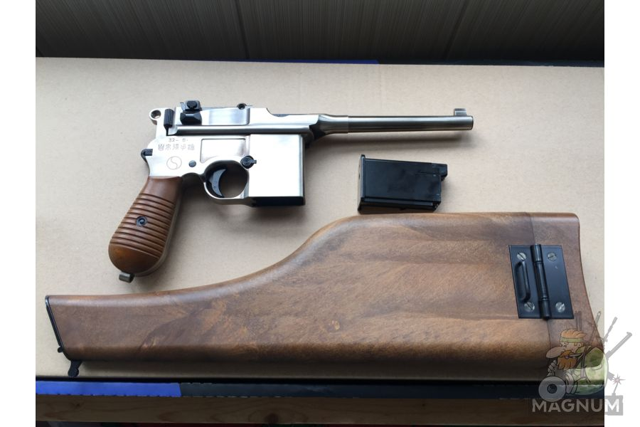 IMG 4433 - Пистолет WE Mauser 712 (пластик под дерево) WE-712-SV