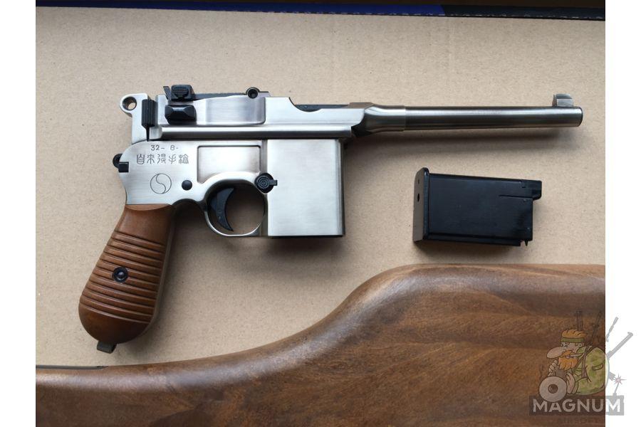 IMG 4434 - Пистолет WE Mauser 712 (пластик под дерево) WE-712-SV