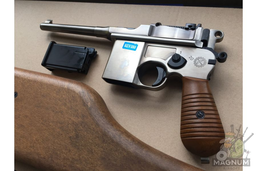 IMG 4435 - Пистолет WE Mauser 712 (пластик под дерево) WE-712-SV