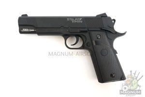 Пистолет пневматический Stalker S1911RD (аналог Colt 1911) к.4,5 мм, блоубэк, черный