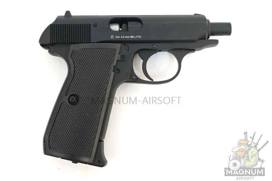 "Пистолет пневматический Stalker SPPK (аналог ""Walther PPK/S"") к.4,5 мм, металл, 120 м/с, черный"