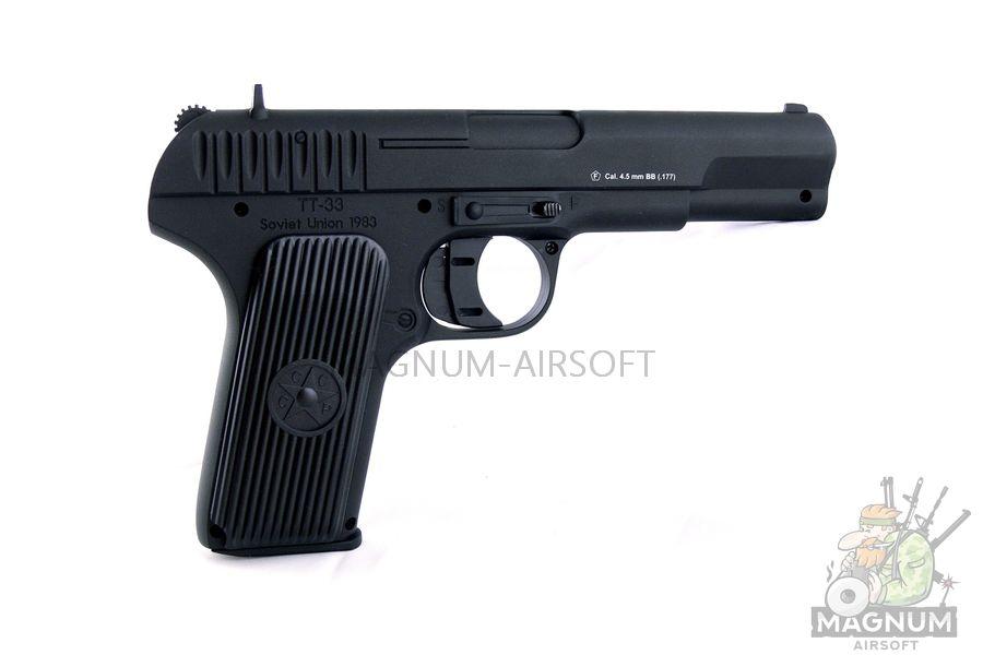 "Пистолет пневматический Stalker STT (аналог ""ТТ"") к.4,5 мм, металл, 120 м/с, черный (ST-21051T)"