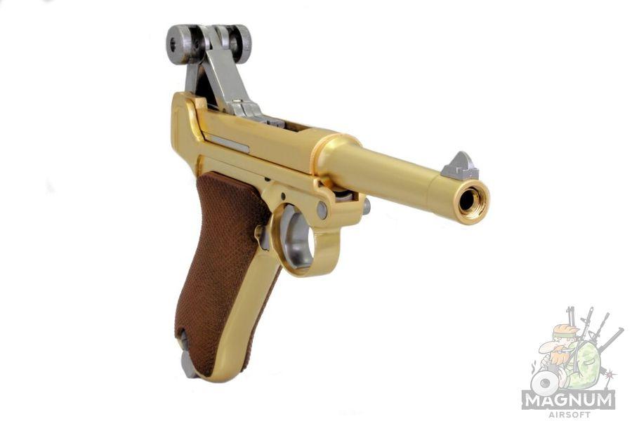 Пистолет WE P-08 4 позолоченный (WE-P007)