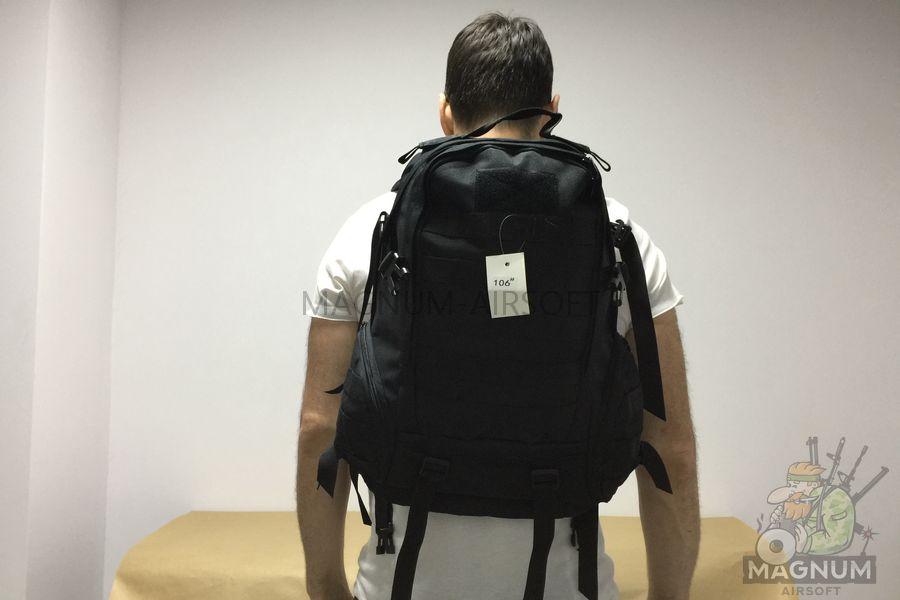 IMG 5445 - Рюкзак тактический 20 литров - Черный (32x49x15cm)
