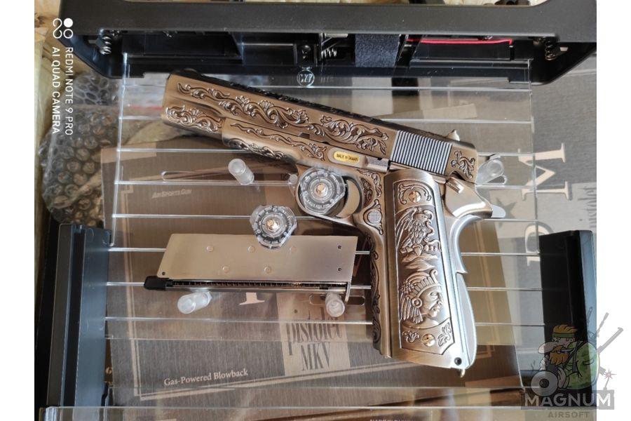 WE E006SP 1911 Classic Floral Pattern 6 - Пистолет WE COLT 1911 CLASSIC FLORAL PATTERN (WE-E006SP)