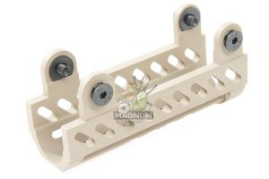 Airsoft Surgeon B-19N Classic AK Gas Tube Cover for LCT/GHK AK Series (except AKS74U) - TAN