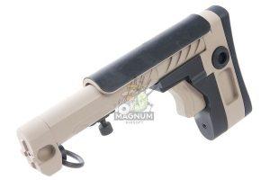 Airsoft Surgeon PT-3 AK Telescopic Foldable Stock for AK AEG / GBB - Tan
