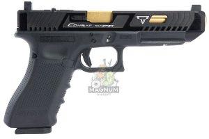 EMG TTI G34 Gen 4 GBB Pistol (G&P Custom) - Black Slide with RMR Cut (VFC Platform)
