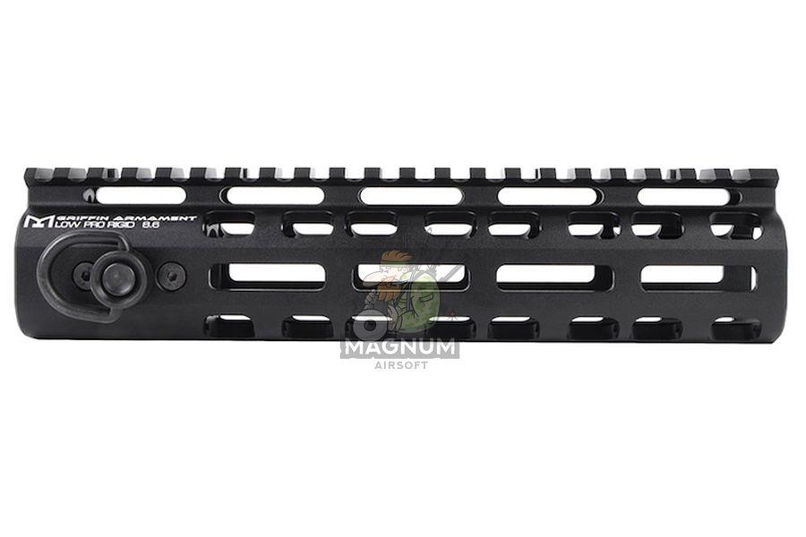 PTS Griffin Armament Low Pro Rigid 8.6 inch M-LOK Rail for M4 Airsoft AEG/ GBB/ PTW - Black