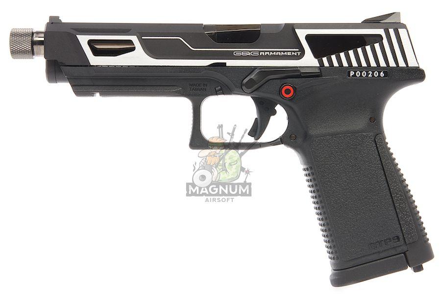 G&G GTP 9 MS GBB Pistol - Silver